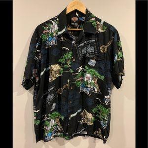 VTG Harley Davidson Tori Richard Hawaiian Shirt